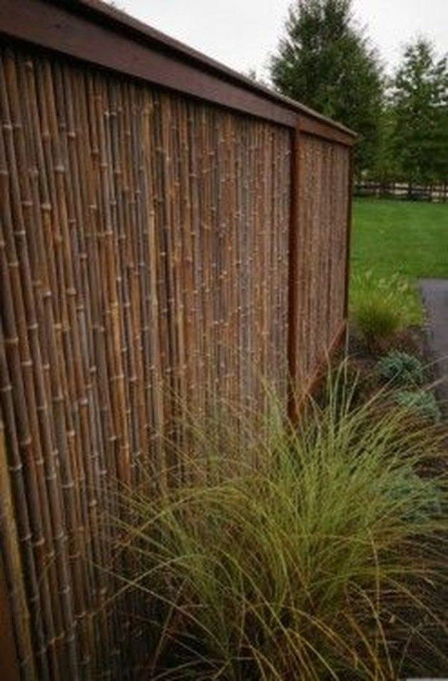 35 Fabulous Wooden Fences for Front Yard Remodel Bamboo
