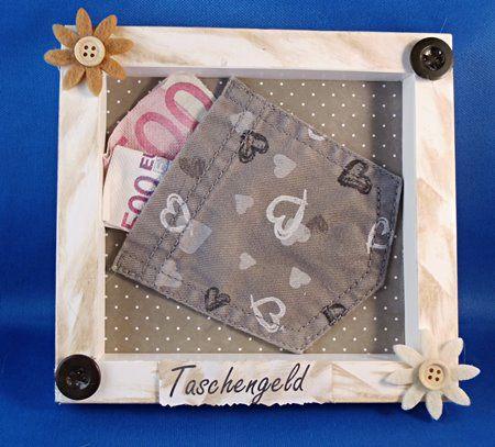 Vorbereitetes Geldgeschenk Taschengeld Geldgeschenke Basteln