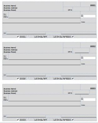 Blank Check Templates  Deposit Forms at FreeChurchForms