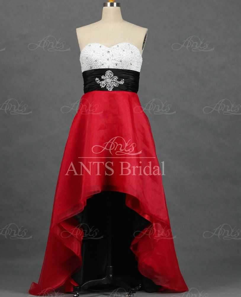 Re color sweetheart black sash red white evening celebrity