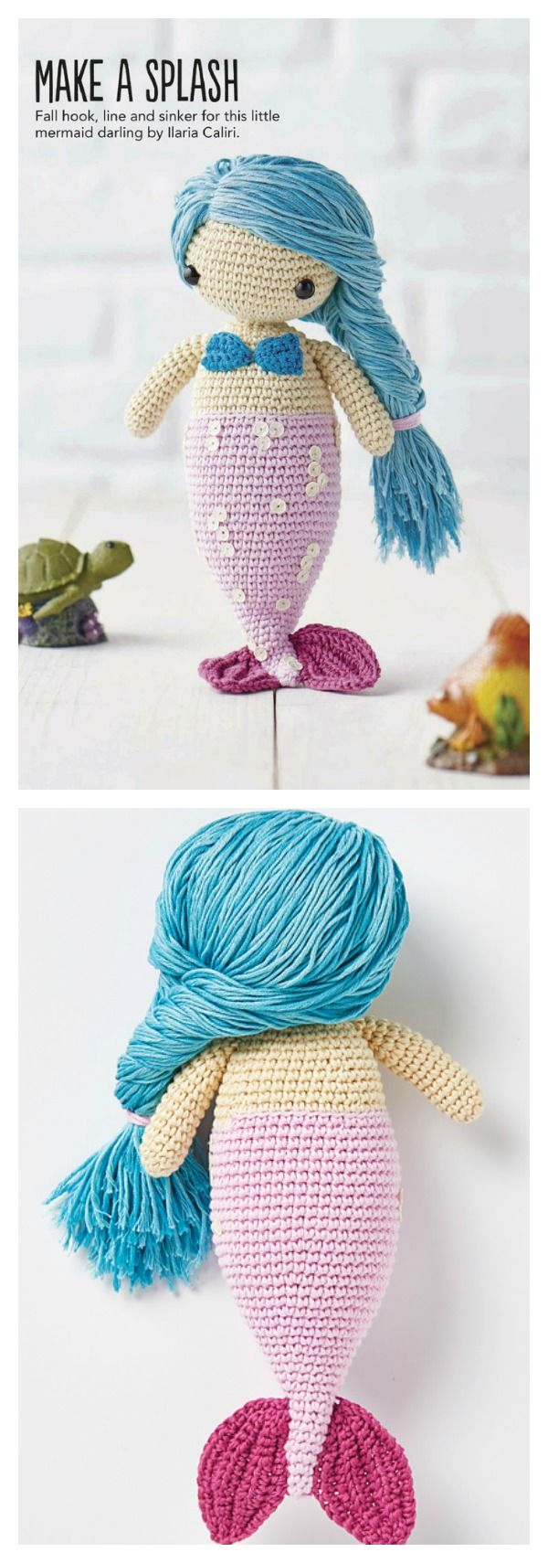 Amigurumi mermaid pattern | 1710x600