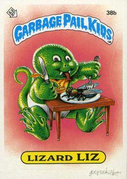 Lizard Liz Garbage Pail Kids Garbage Pail Kids Garbage Pail Kids Cards Pail