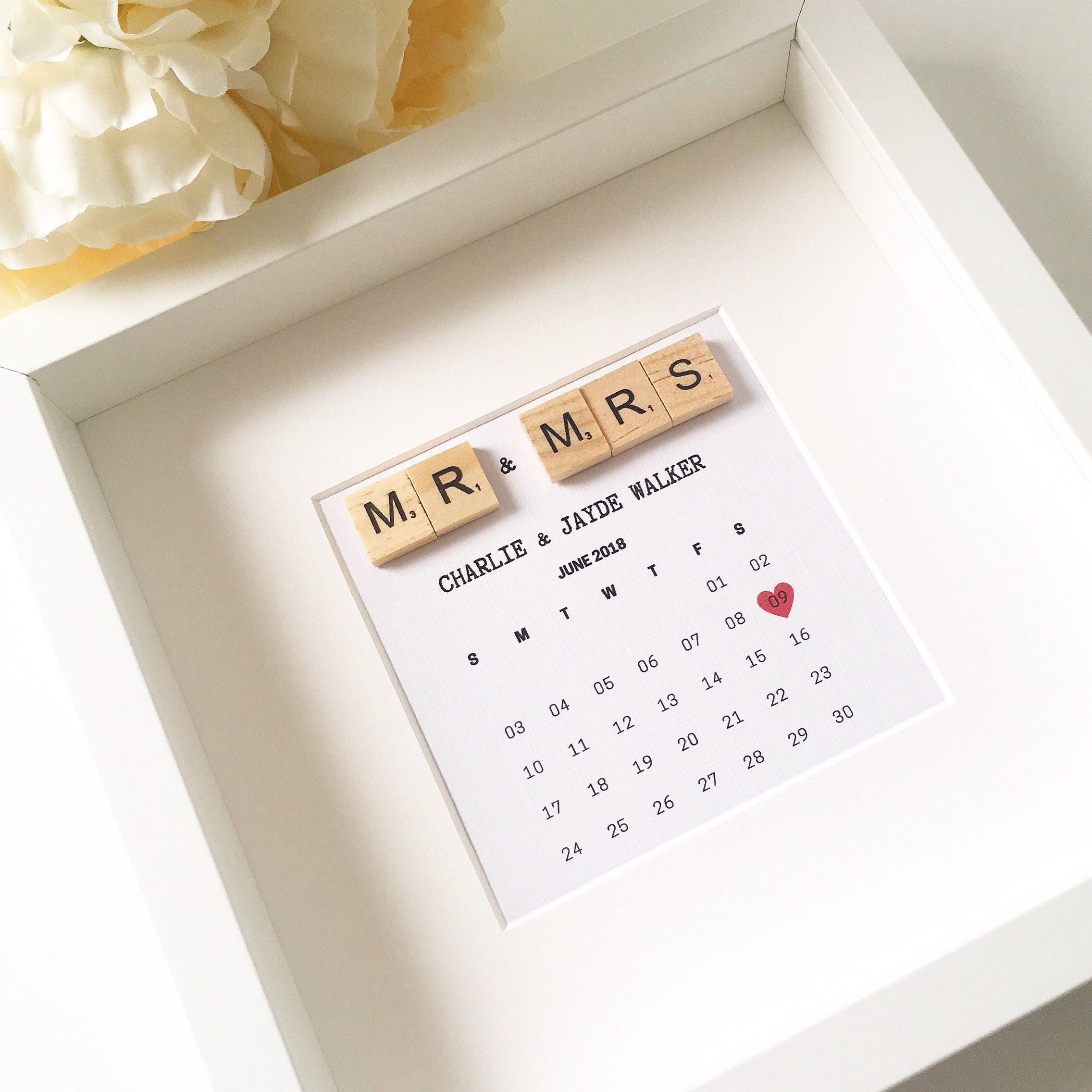 Personalised Wedding Gift Wedding Frame Scrabble Frame Wedding