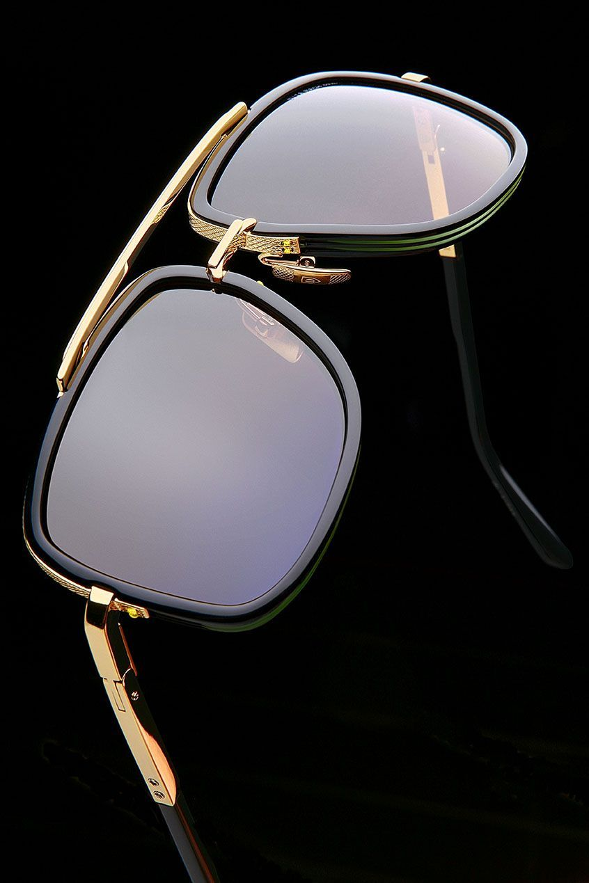 50b47df2bf06 The Mach One in Gold and Black  DITAeyewear
