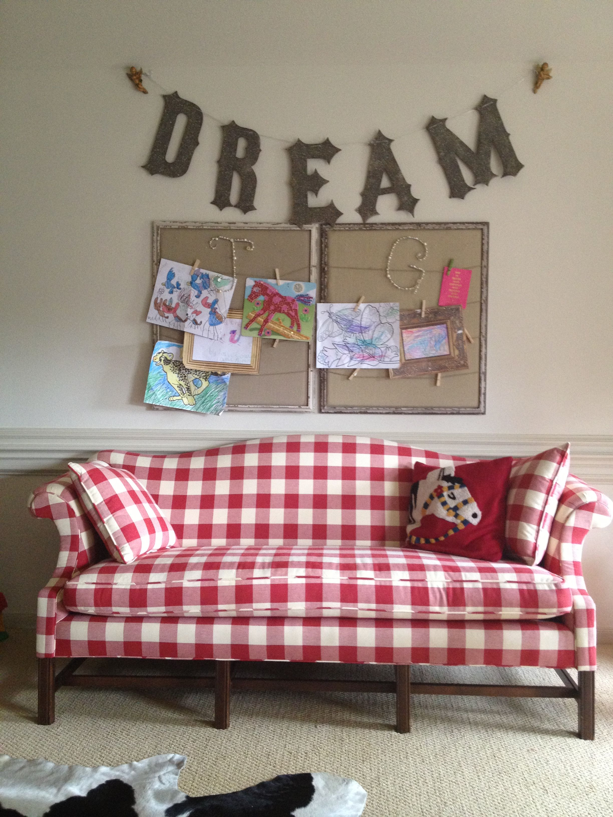 Red And White Checkered Loveseat Sofa   Yahoo Image Search Results