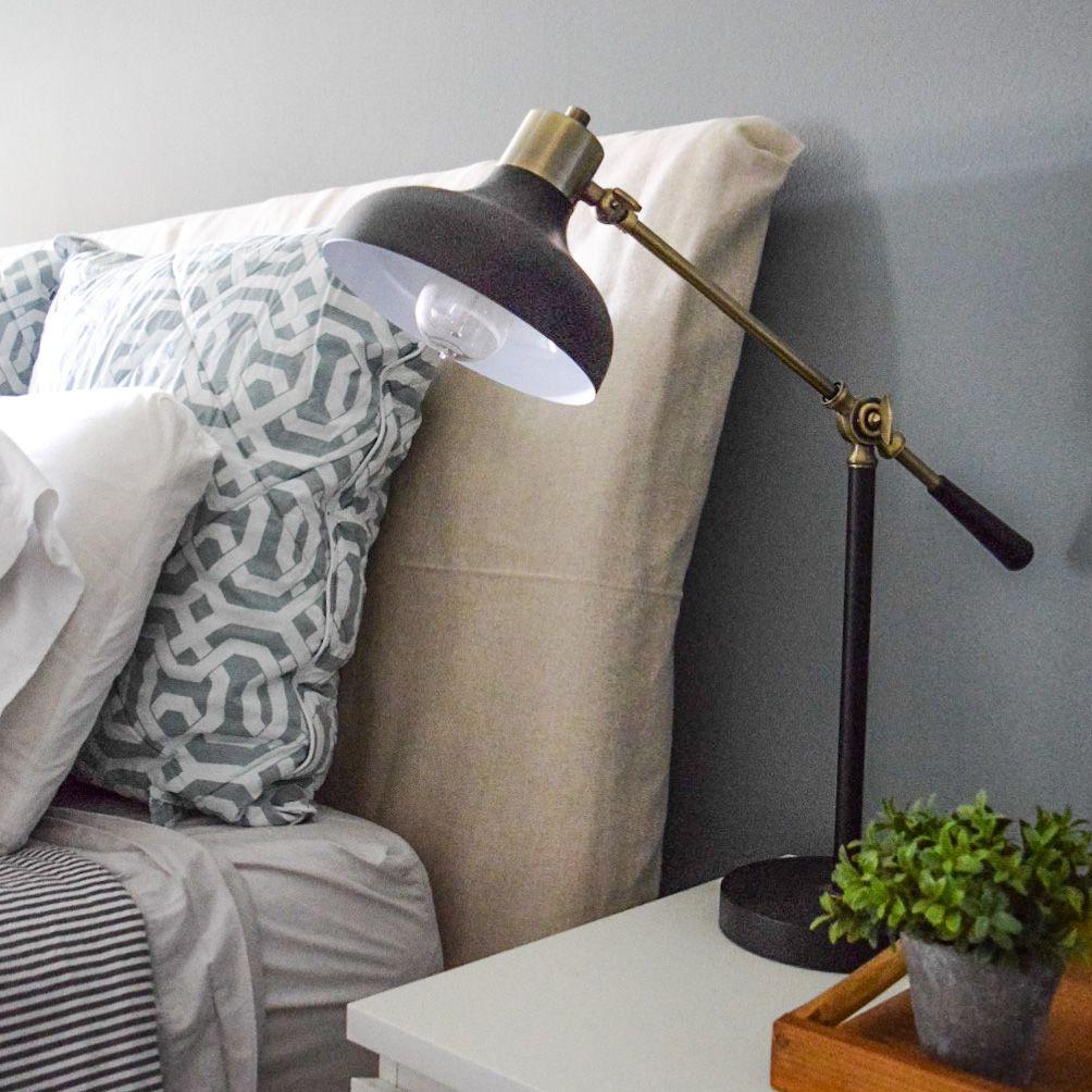 DIY No Sew Headboard Slipcover | Diy headboard upholstered