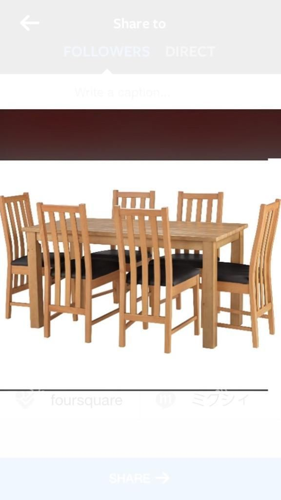bedroom chair gumtree ferndown folding replacement parts 6 seater oak table and chairs dorset mums