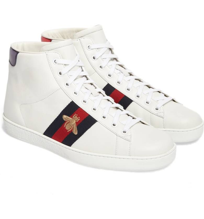 Gucci New Ace High Bee Sneaker (Men