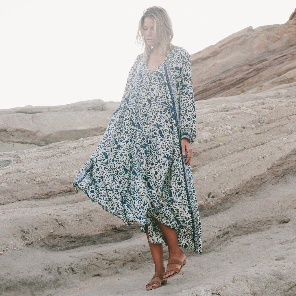 04c3abc505c Natalie Martin Fiore Maxi Dress in Silk Positano