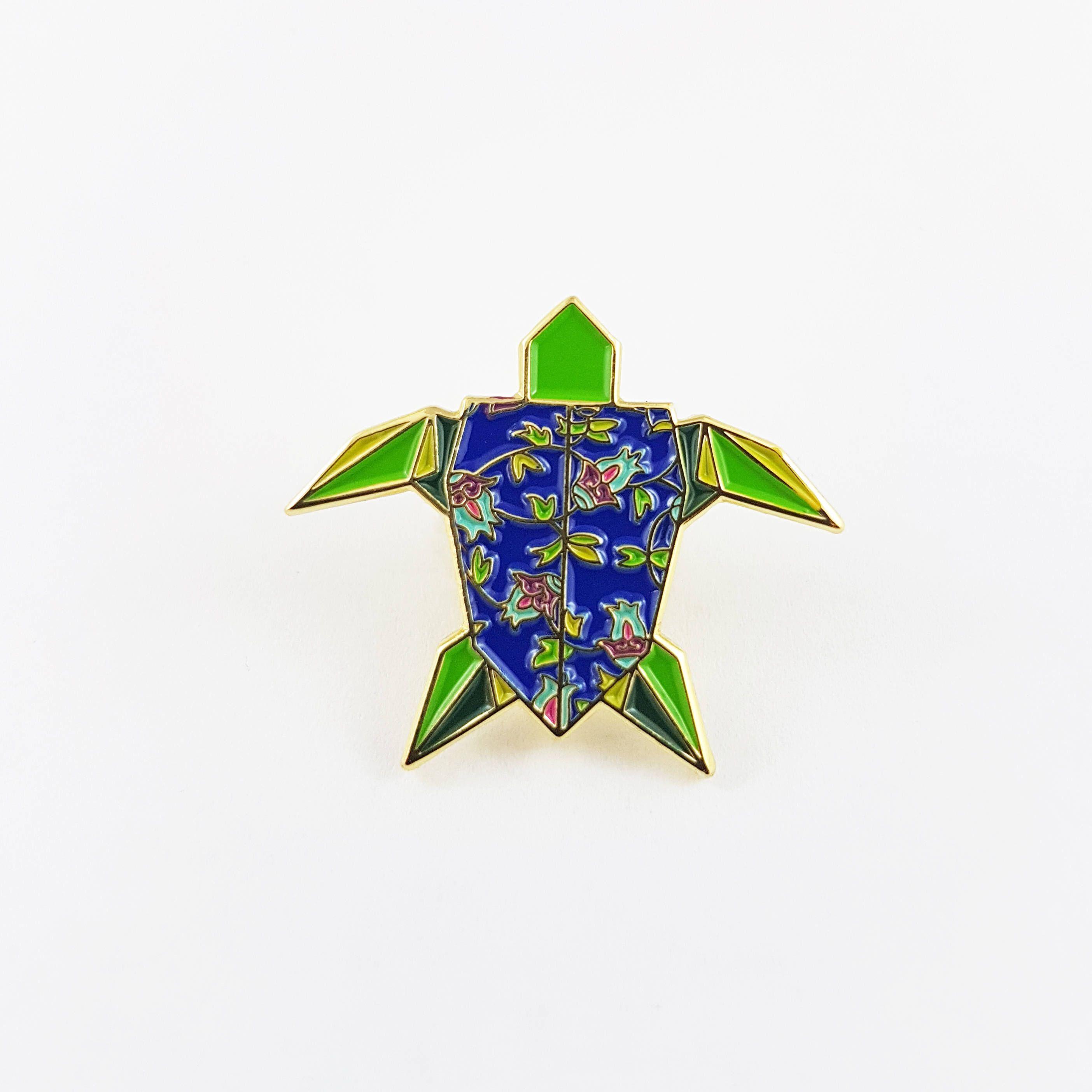 Origami sea turtle soft enamel pinenamel pinorigami jewelry origami sea turtle soft enamel pinenamel pinorigami jewelryturtle gift jeuxipadfo Image collections