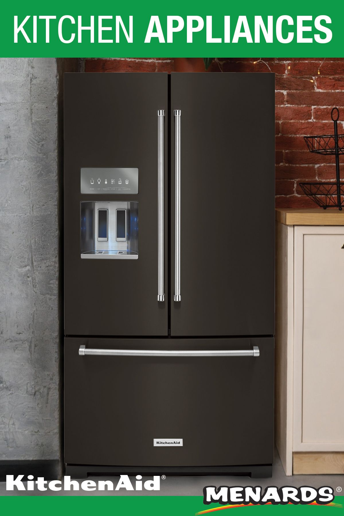 This 26 8 Cubic Foot Capacity French Door Refrigerator From Kitchenaid Helps Fresh Produce Stay That Way W In 2020 Kitchen Aid French Door Refrigerator Best Appliances