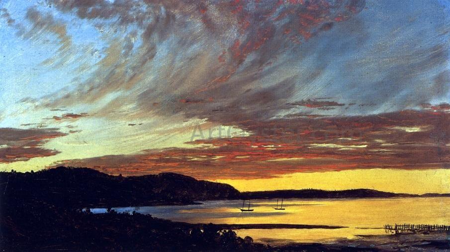 Sunset Bar Harbor By Frederic Edwin Church Canvas Art Print