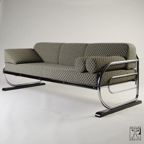 Tubular Steel Couch Daybed In Aeronautic Streamline Design By Zeitlos Berlin Furniture Metal Sofa Steel Furniture