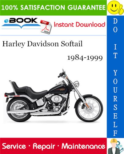 1984 1990 Harley Davidson Fxst Softail Service Repair Manual Softail Harley Davidson Softail Custom
