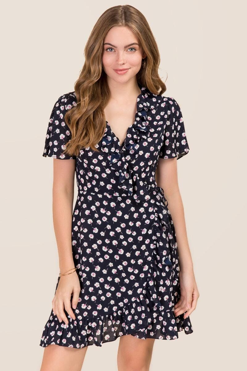 5eefa20ce4f Trisha Ruffle Floral Wrap Dress | Dresses in 2019 | Wrap dress ...