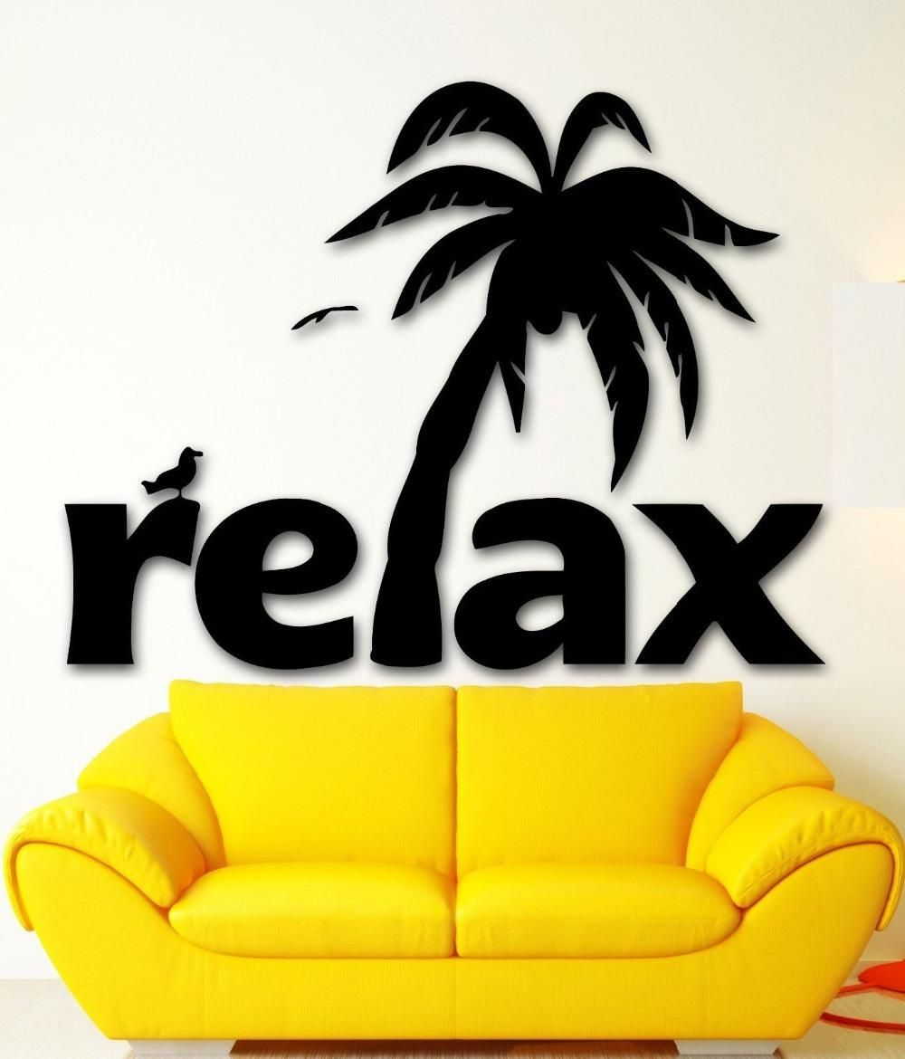 Visit to buy wall sticker vinyl decal relax tropical palm beach visit to buy wall sticker vinyl decal relax tropical palm beach spa salon tourism amipublicfo Choice Image