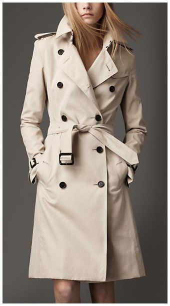 Cotton Long Coat1 395 Burberry Double Trench Breasted eWCxorBd