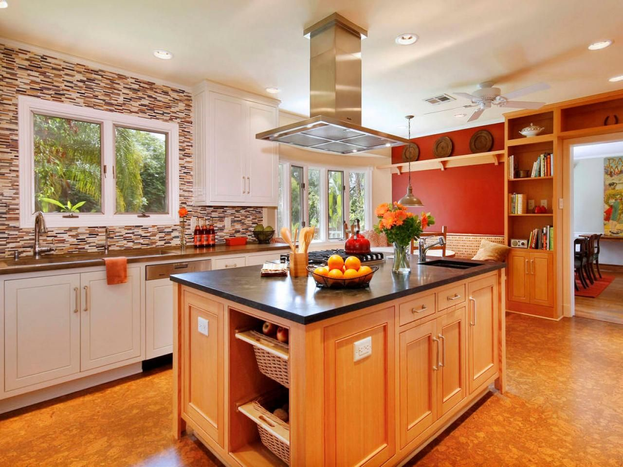 Wonderful Kitchen Decorating Ideas With Red Accents Part - 9: Pictures Of Colorful Kitchens: Ideas For Using Color In The Kitchen