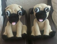 Perro Pug - Patrón Gratis en Español aquí: http://novedadesjenpoali.blogspot.de/2014/09/patron-de-perro-pugs-amigurumi.html