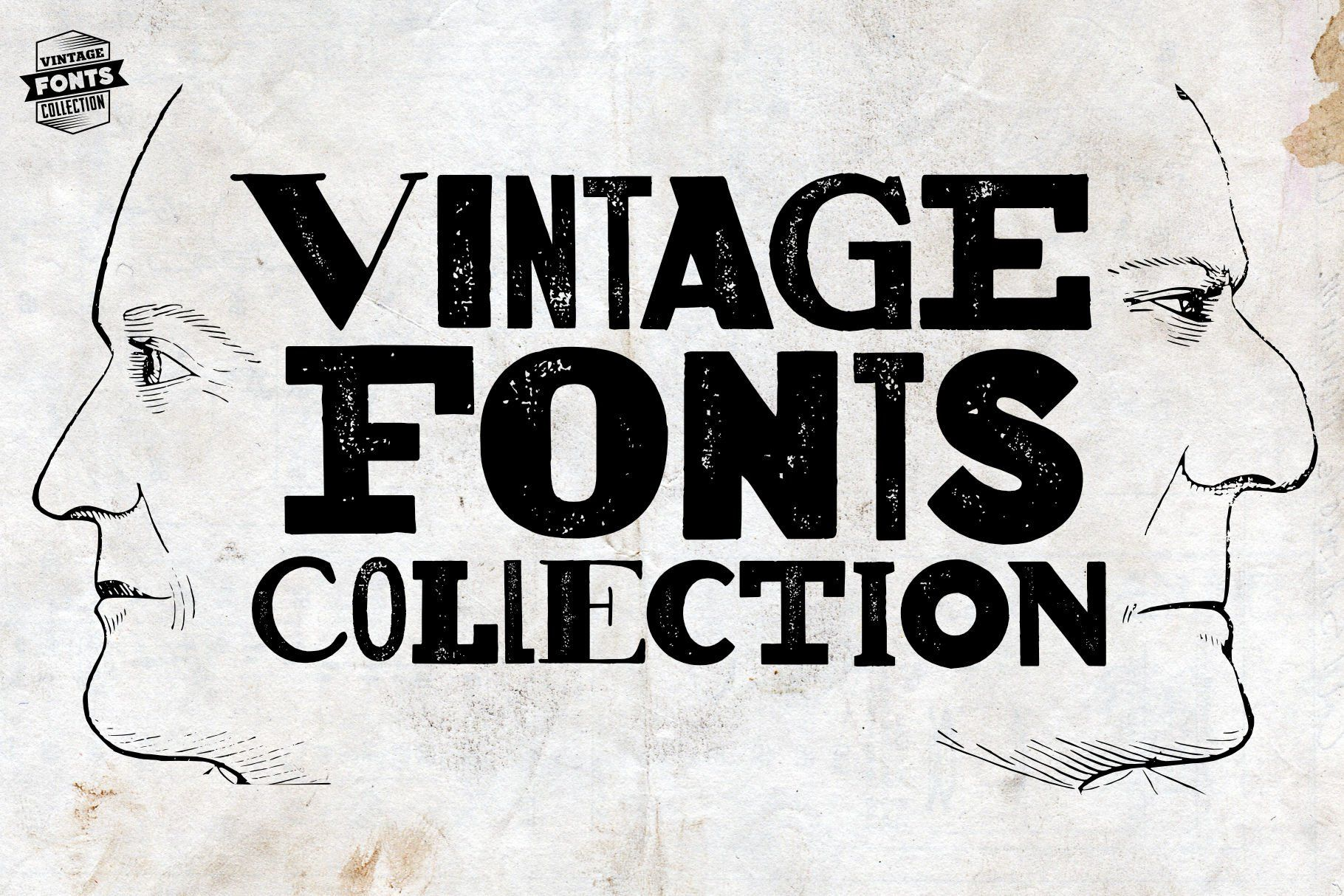 Vintage Fonts Collection In 2020 Vintage Fonts Hand Drawn Fonts Retro Sign