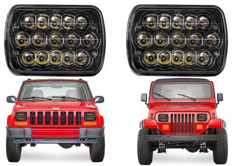 Pair Led Black Headlights For 1986 1995 Jeep Wrangler 1984 2001 Cherokee New Usa In Ebay Motors Part Jeep Jeep Cherokee Accessories