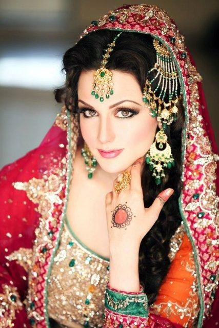 """Aisha Linnea Akhter"" latest beautiful bridal dresses and makeup"