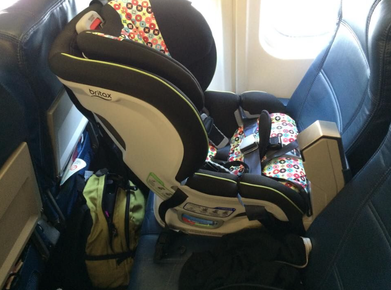 Car Seat On Airplane: Great Info On How To Install A Britax ClickTight Carseat