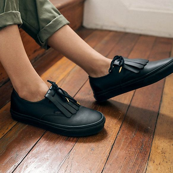 126da0a1c7a101 Leather Authentic Fringe DX - Vans New spin on smart casual! Can t wait to  own these!