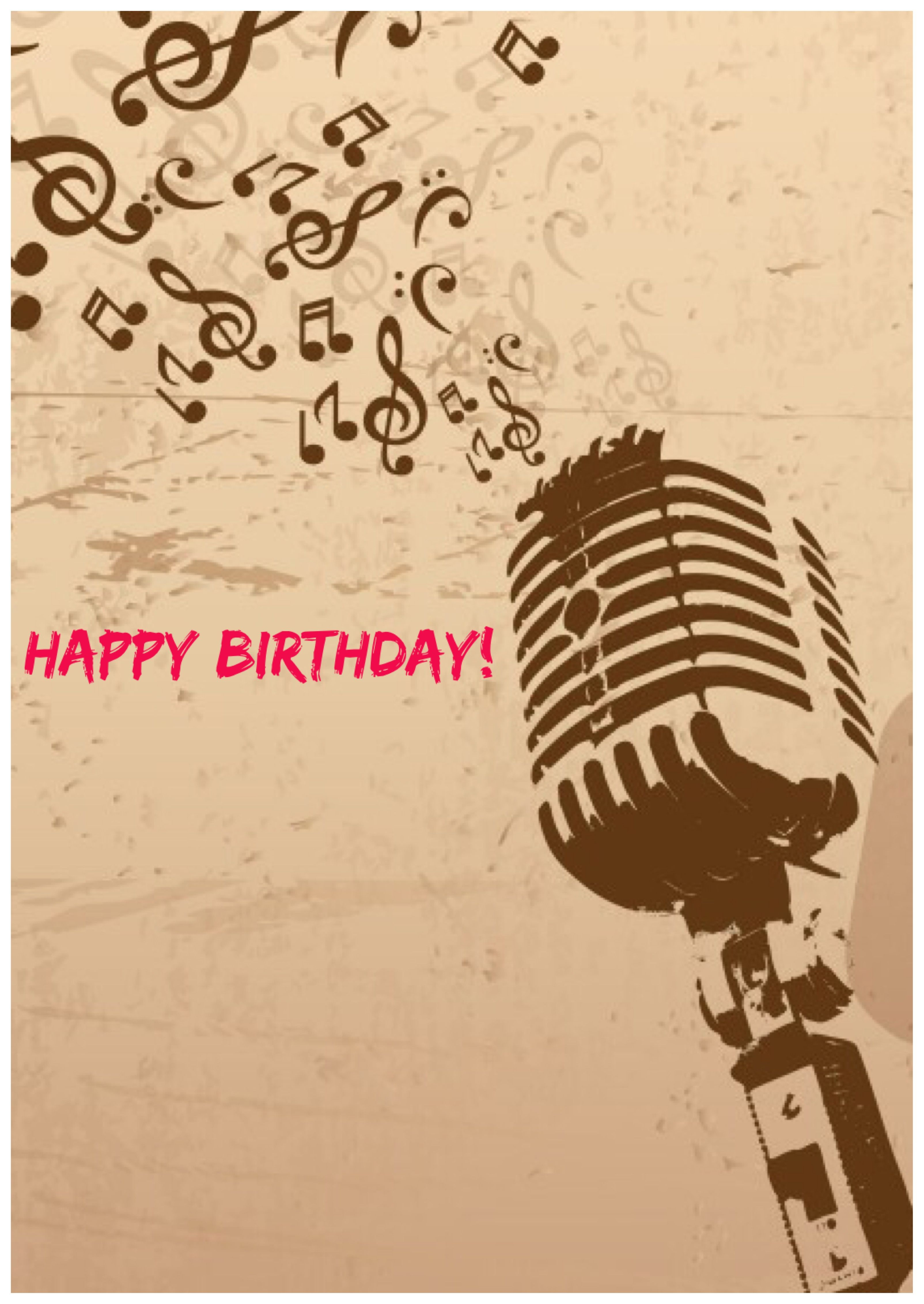 Happy Birthday Microphone Singer