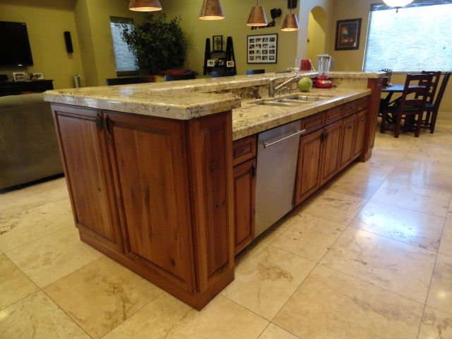 Kitchen Island With Sink And Bar island with a ledge to hide sink. i think i like the flat island