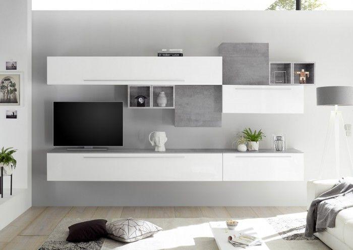 Soggiorno Limity 051 Composizione in 2020 | Wall unit, Tv ...