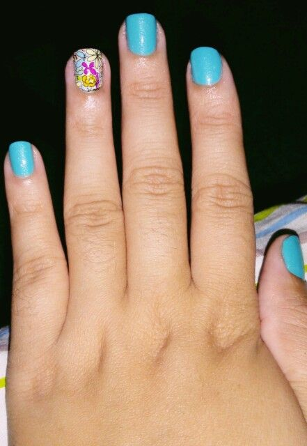 08/03 - Blue Jade (CAMILA COELHO BY YNC) + pelicula candy acessórios