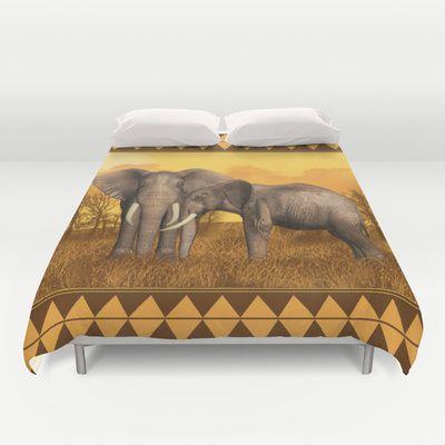 Elephants Duvet Cover by Moonlake Designs - $99.00