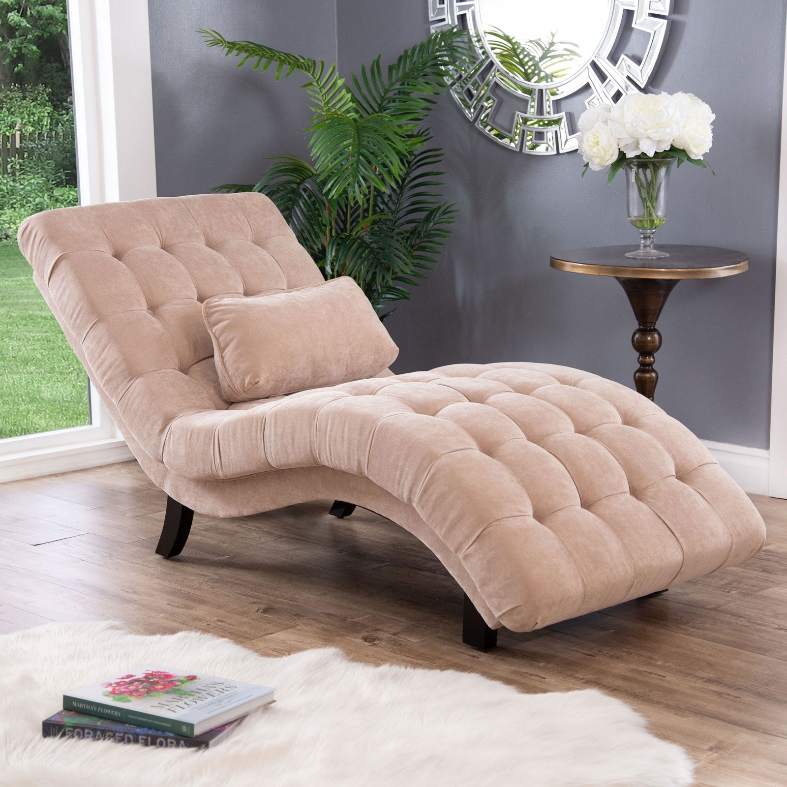 Thatcher Fabric Chaise Lounge Upholstered Chaise Lounge