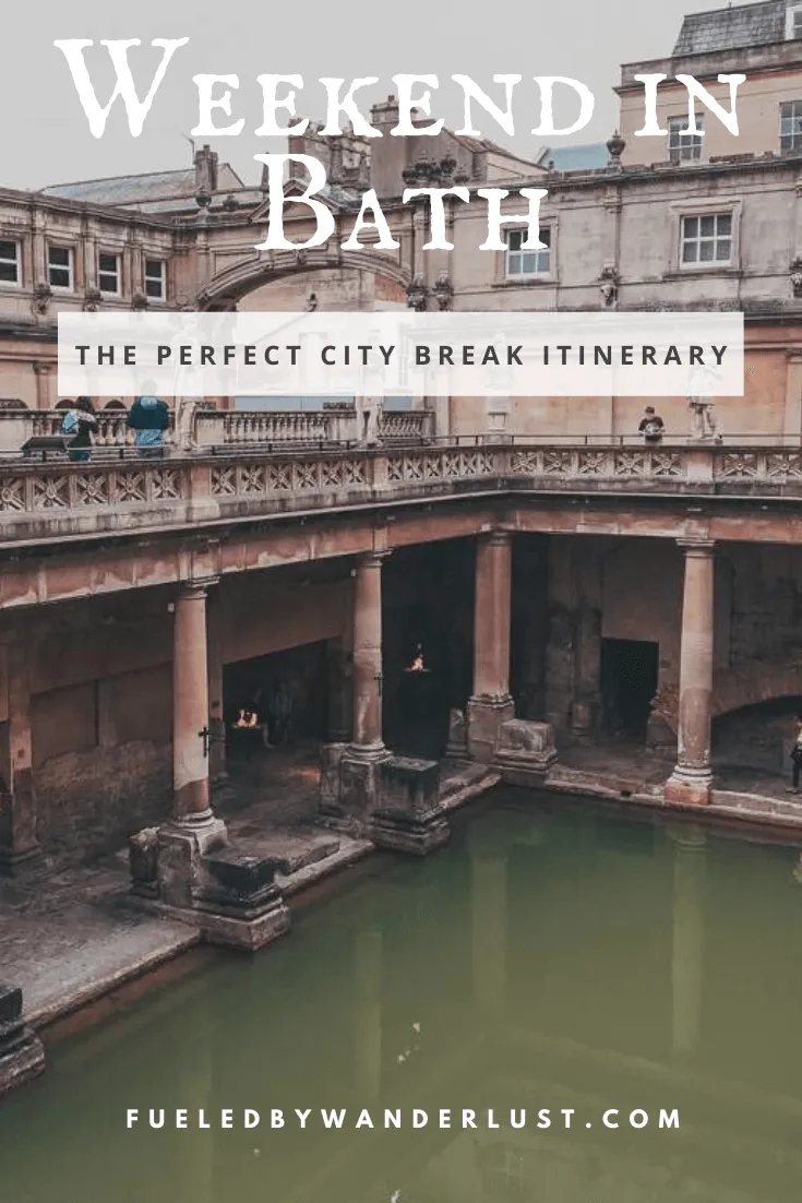 The perfect itinerary for an amazing weekend in Bath UK. Features the best things to do in Bath, including the Roman Baths, Jane Austen Museum, and Bath Abbey. Eat at delicious restaurants and marvel at Bath's stunning architecture all in just one weekend. #bathtravel #bathuk #baththingstodo #bathitinerary #batharchitecture