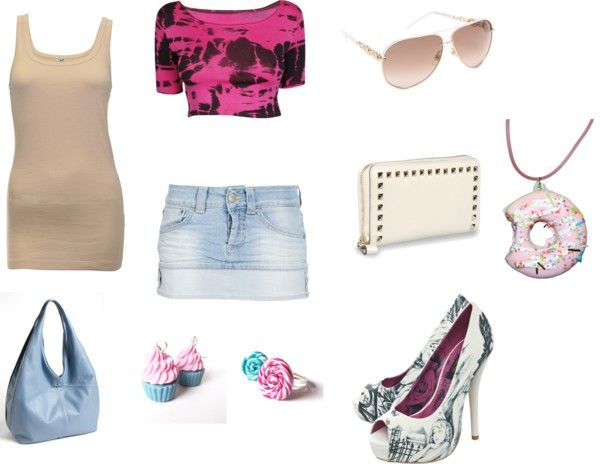 """""""Pink and Blue summer"""" by lizpijah on Polyvore"""