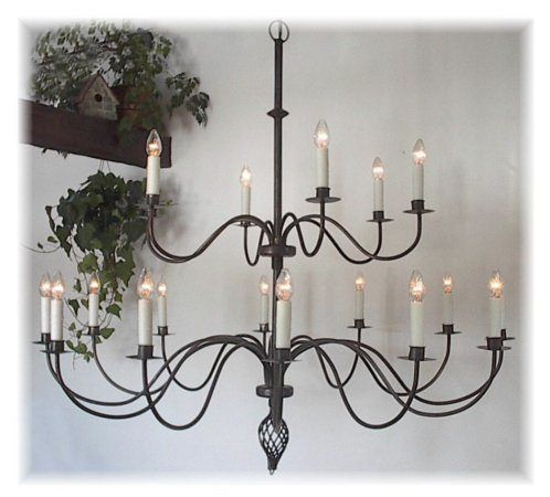 18twotiersoft Iron Chandeliers Wrought Iron Chandeliers