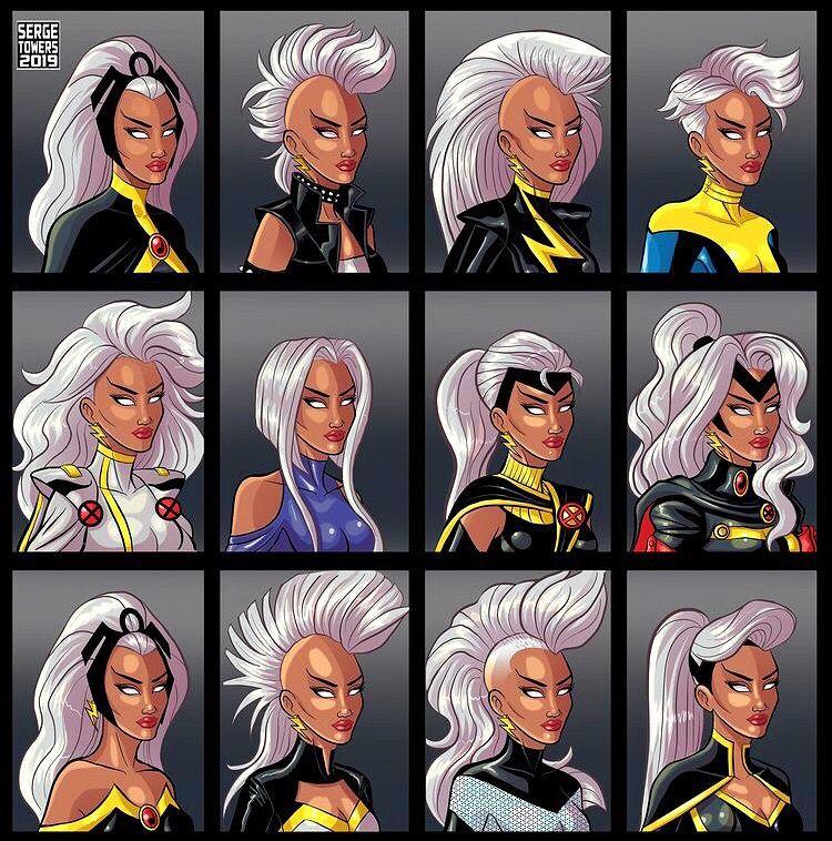 The Many Looks Of Storm Storm Marvel Marvel Comics Art Black Comics