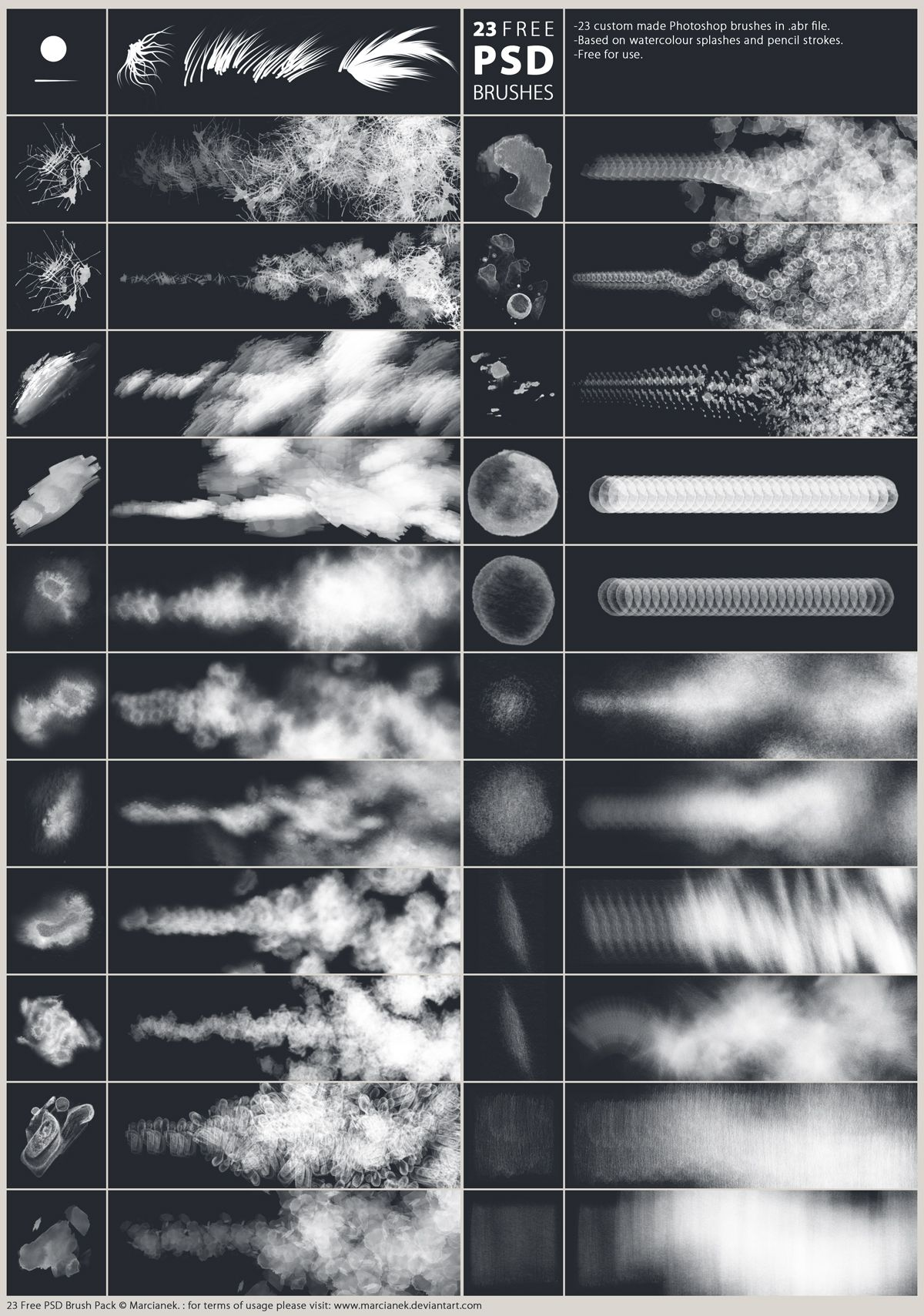 23 Free Psd Brushes By Marcianek On Deviantart Download Here