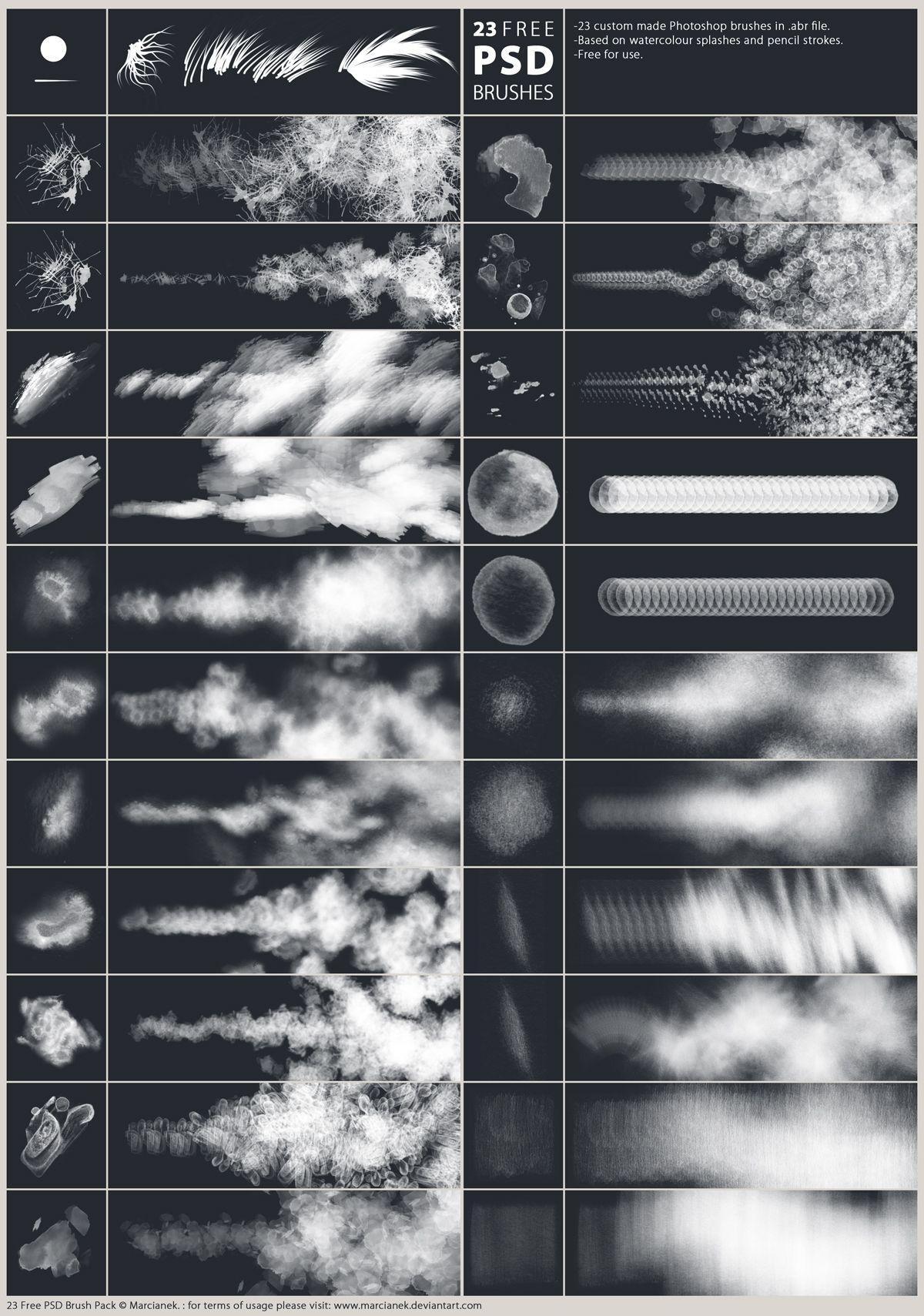 Pinceles (brushes) de monstruos para Photoshop ~ WorldjamBlog