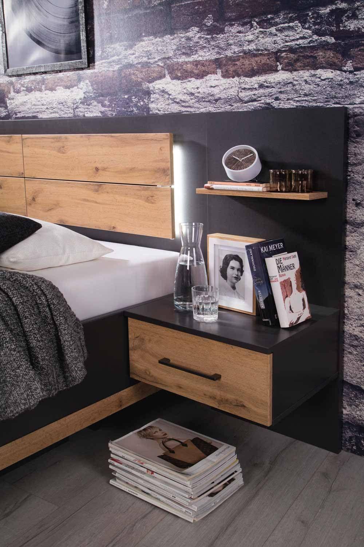 Schlafzimmer komplett Set 4 teilig Grau günstig online