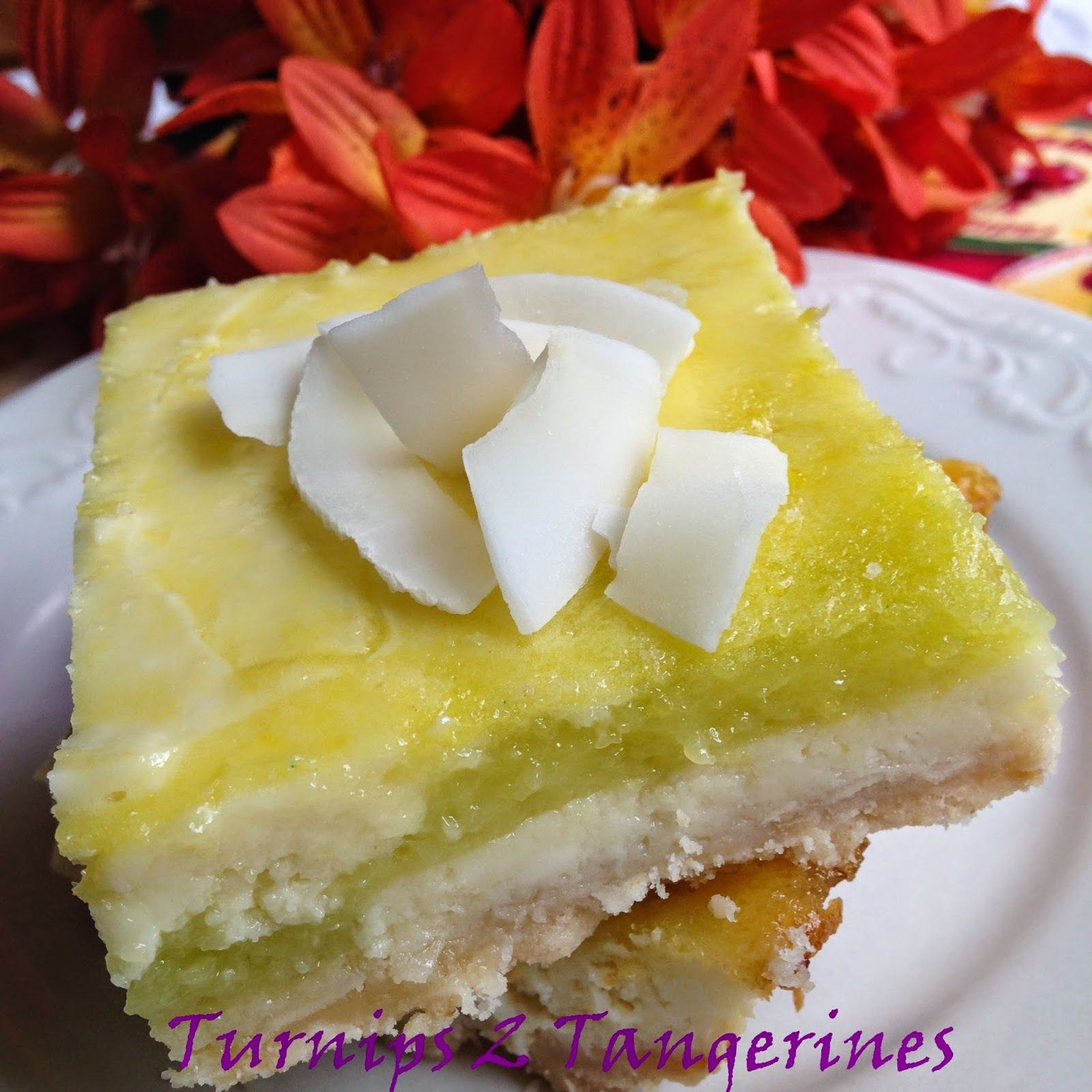 Turnips 2 Tangerines: Key Lime Cheesecake Bars with Toasted Coconut Crus...