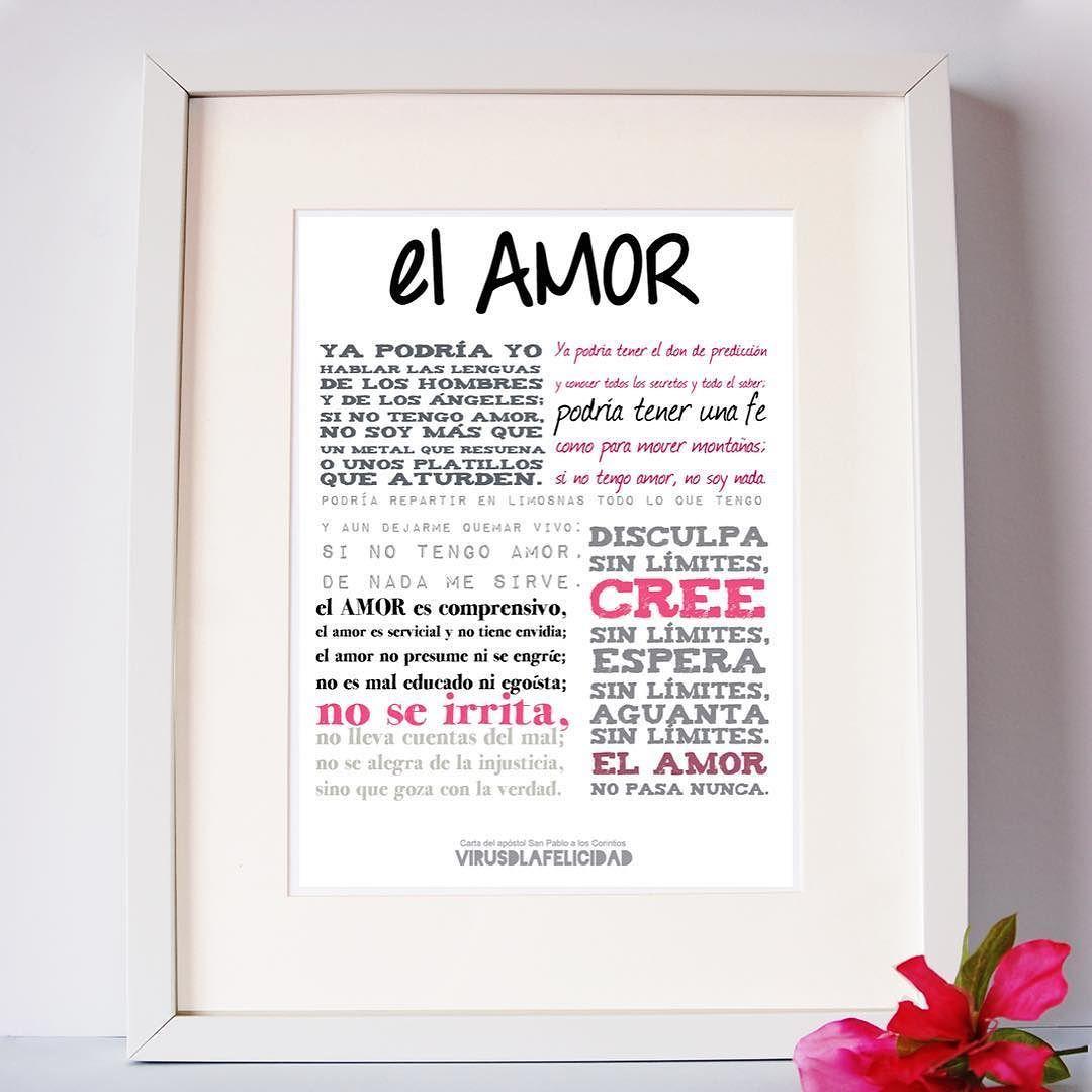 El Amor...   Regala esta lámina a esa pareja de amigos que están a punto de casarse o a los que se acaban de casar les encantará tenerla presente en casa  Disponible en www.virusdlafelicidad.com  #virusdlafelicidad #lamina #elamor #deco #pareja #boda #lectura #texto #inspiracion #amor
