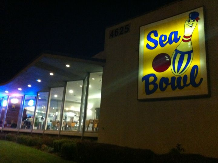 Go Bowling At Sea Bowl In Pacifica Astro Bowl Is Every Friday From 10pm 12 30pm Bowl Sea Neon Signs