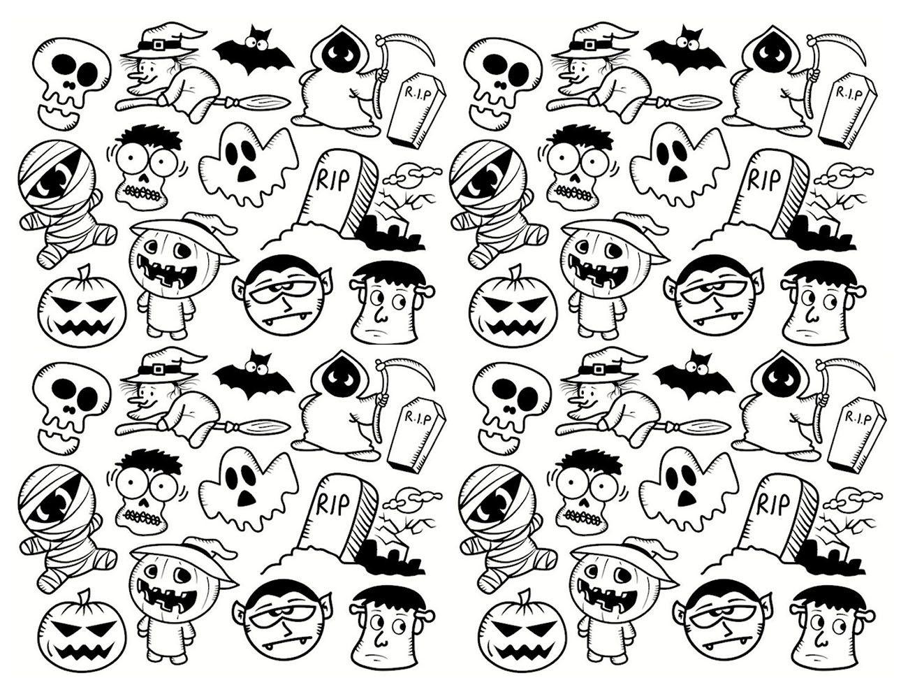 Doodle complexe pour HalloweenA partir de la galerie
