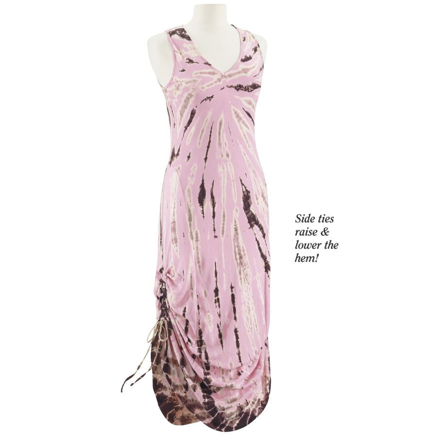 Tie Dye Maxi Dress - New Age, Spiritual Gifts, Yoga, Wicca, Gothic, Reiki, Celtic, Crystal, Tarot at Pyramid Collection