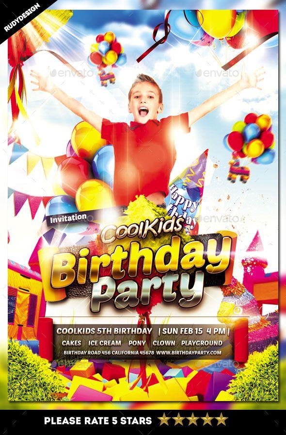 birthday party flyer invitations