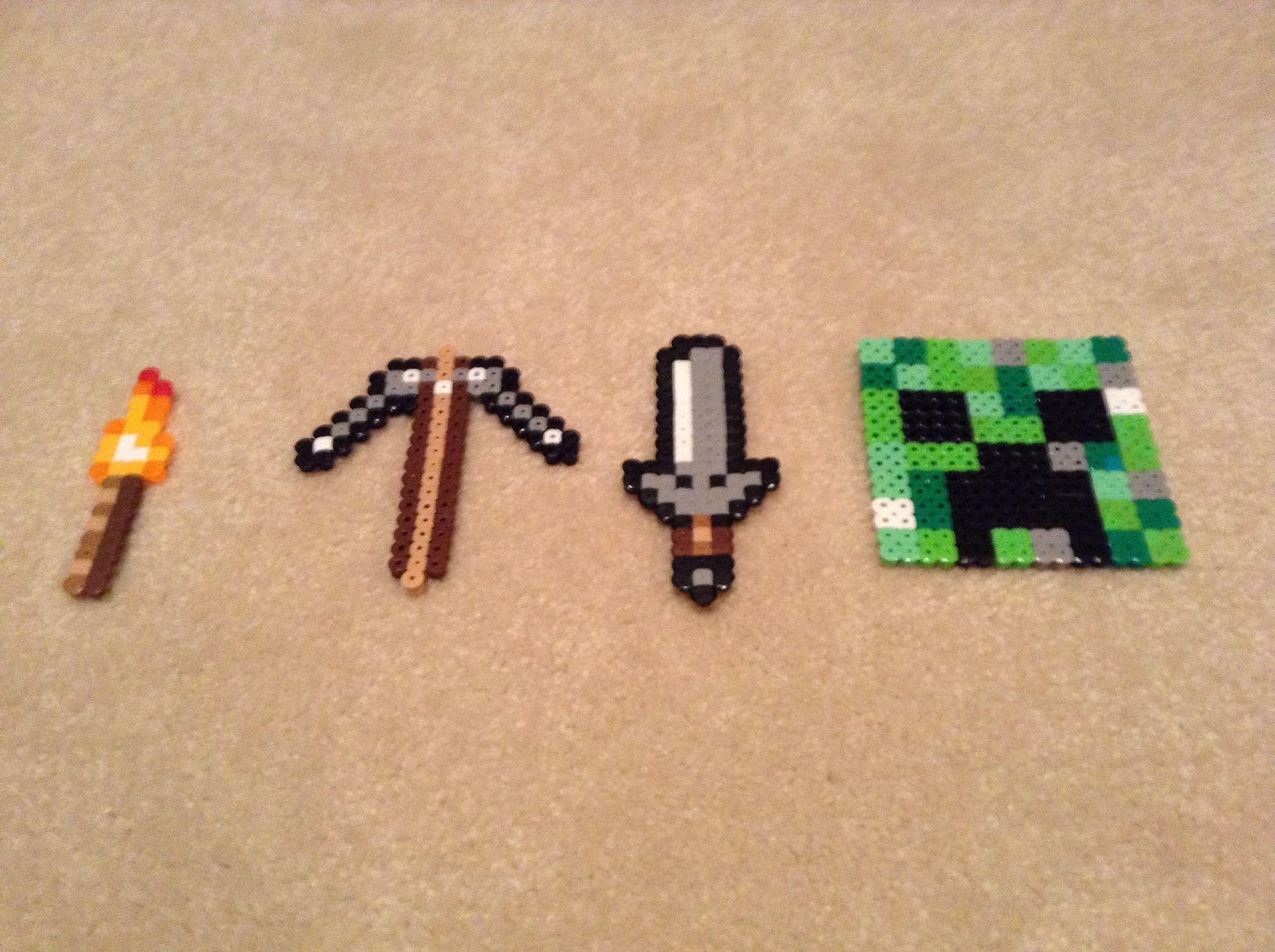My Minecraft Perler Bead Collection Mit Bildern Bugelperlen
