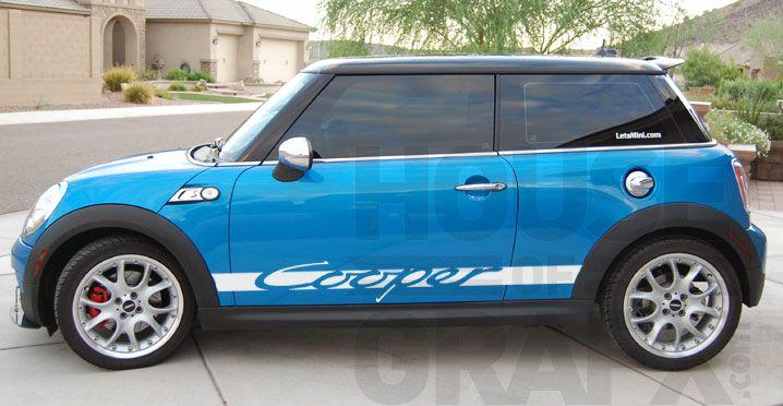 Carrera Style Side Body Stripe Stripes Graphic Fit Mini Cooper Mini Cooper Rally Stripes Mini Cars