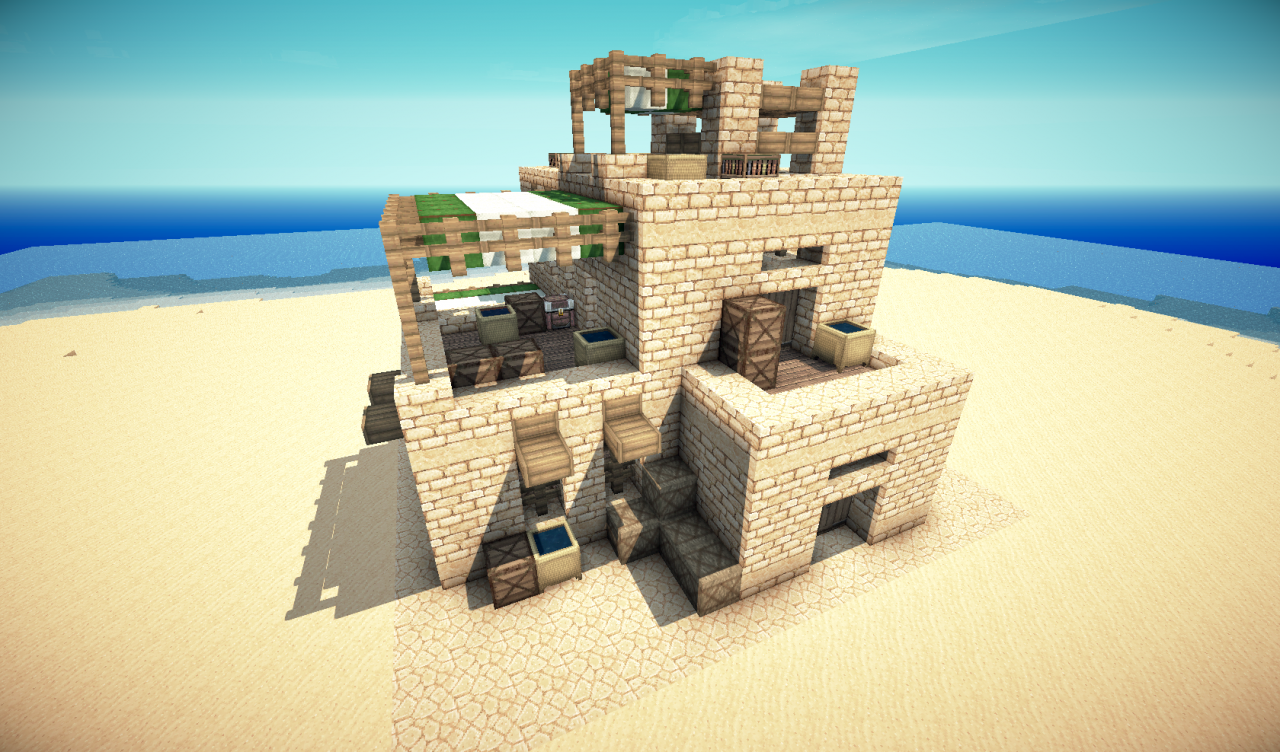 Simple Desert Minecraft House Minecraft Houses Minecraft